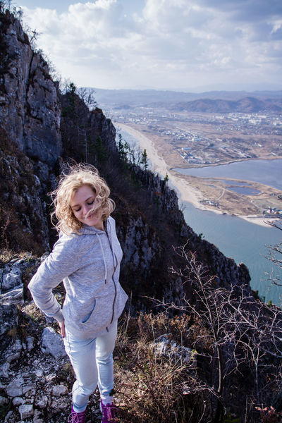 One Person Beach Blond Hair Nature Girls Sky Taking Photos Canon 7D Trevel Russia Girl Beautiful