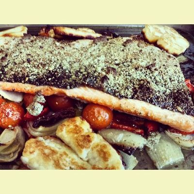 Roasted up some Rainbow Trout & Veggies for the folks before my trip to Austria. GoodFriday  Lunch HouseHusbandMaterial Icancook OffToAustria PandaNationXAustria Igers London