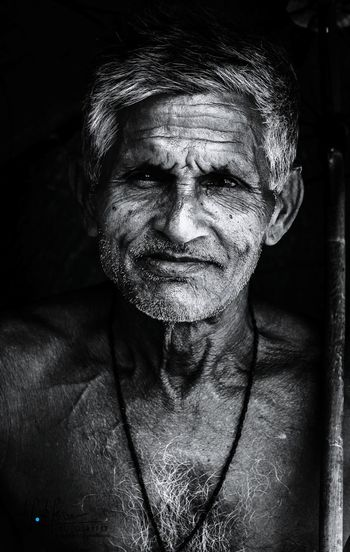 Black And White Portrait One Person Black Background Human Face Close-up Eos600d BeautifulBANGLADESH
