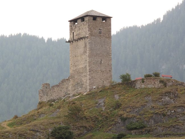 Architecture Building Exterior Built Structure Castle Day Fog Fort Fortified Wall Fortress Grass Hill History Medieval Mountain Nature No People Non-urban Scene Old Outdoors Scenics Sky Stone Wall The Past Tower Tranquility