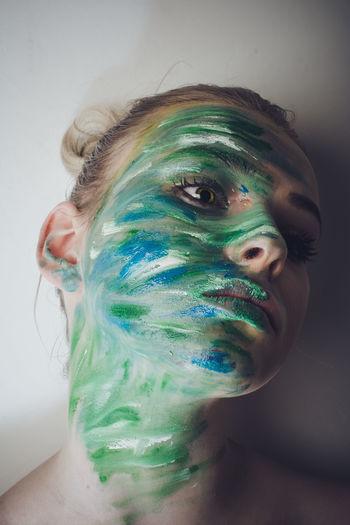 Portrait of a man wearing mask