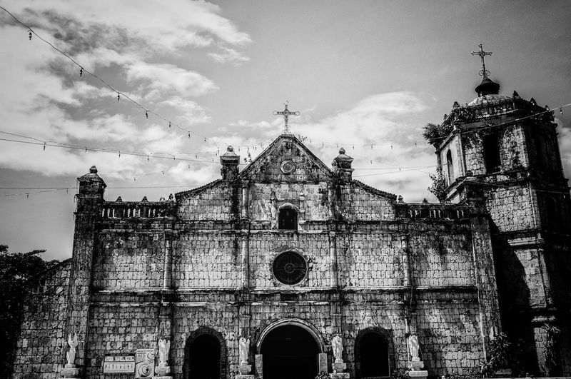 Black And White Friday Be. Ready. Religion Spirituality Architecture Place Of Worship Built Structure Building Exterior Sky Low Angle View Arch Outdoors Cloud - Sky No People Façade Day Bell Tower Church Pictureoftheday Picoftheday Monochrome Photography Monochrome Nikon Nikonphotography EyeEm Best Shots