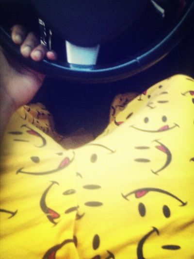 On The Road Thuggin In My Smiley Face Pj's