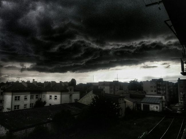 It's going to rain :) Dark clouds over the Suwalki Rain Suwałki Dark Couds Drama HDR Dramatic Sky