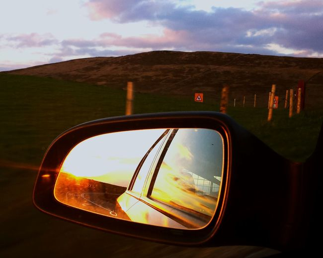 Cat And Fiddle Roadside Wing Mirror  Stunning_shots Eye4photography  Sunsets Different Points Of View EyeEmBestPics Reflection_collection Reflection