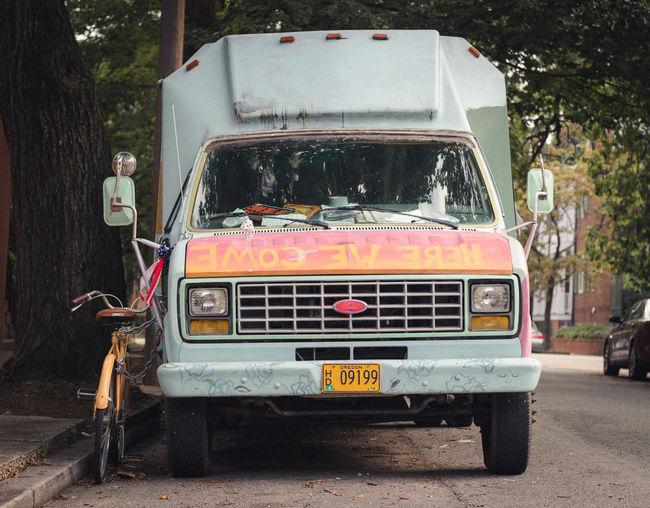City Film Day Land Vehicle Mode Of Transport No People Outdoors Stationary Street Transportation Tree Urban Van
