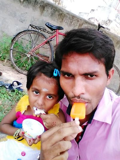 That's Me And My Little Friend Eating Icecream