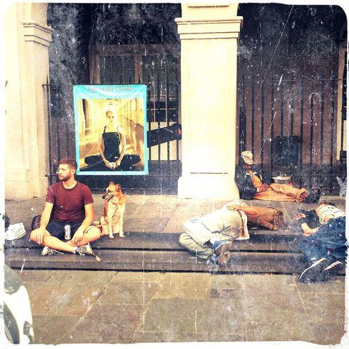 Jackson Square Louisiana Homeless People New Orleans