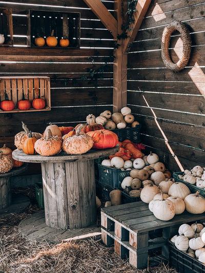 Vegetables for sale at market stall