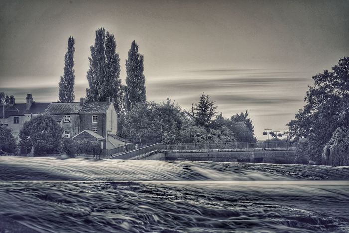 No People Outdoors Tree Sky Day Architecture Nature long exposure Sunset Black & White Tiverton Water