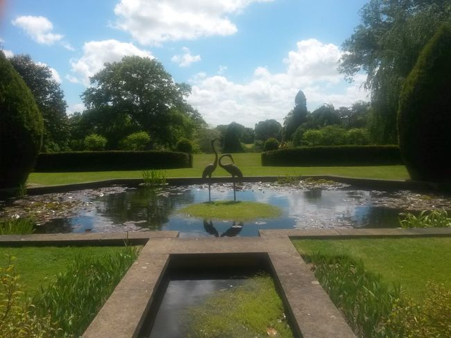 Water Reflection Sky Nature No People Beauty In Nature Symmetry National Trust 🇬🇧 Outdoors Day Blue Sky White Clouds Sunshine Scenery Nature Lover Pretty Places Outdoor Pictures Beautiful England Sculpture Sculpture In Nature EyeEmNewHere