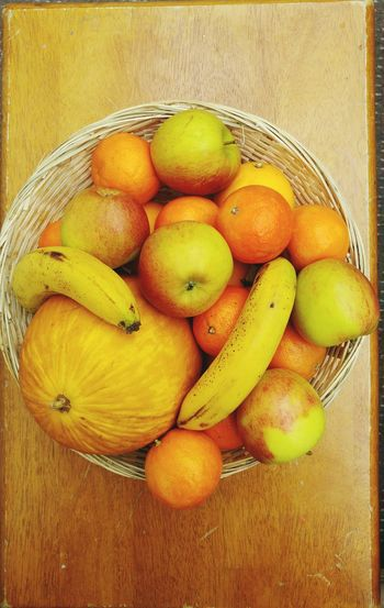 Fruit Basket Variety Of Fruit Healthy Eating Five A Day Ripe Fruit Fruit Yellow Close-up
