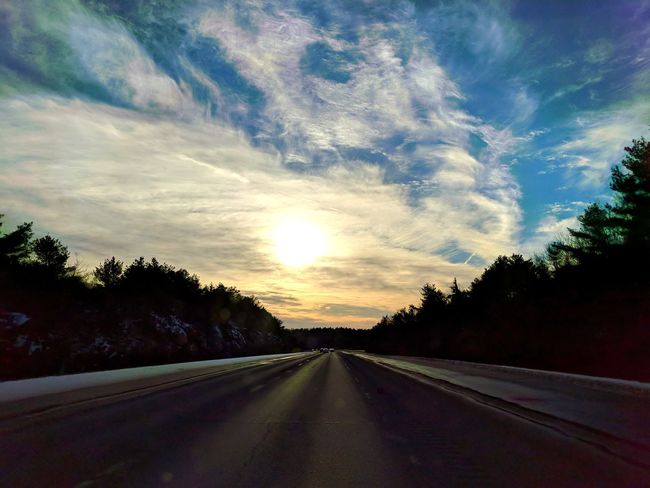 Road The Way Forward Highway Cloud - Sky Landscape No People Sunset EyeEmNewHere An Eye For Travel