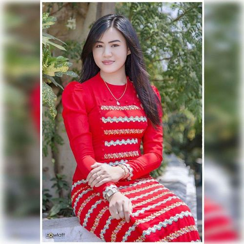 Myanmar dress with me😍