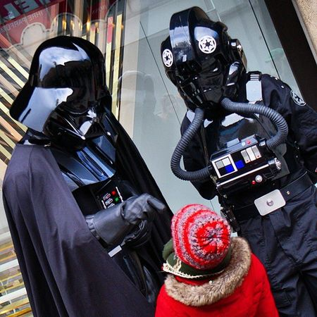Starwars Sithlord Darthvader and a Tiefighter pilot TieFighterPilot DarkSide people in costume and enjoying thier time at the carnaval karnaval in karlsplatz. Taken by MY SonyAlpha dslr a57. münchen Munich bayarn Bavaria Germany Deutschland. مهرجان كرنفال ازياء تنكريه ميونخ المانيا بافاريا