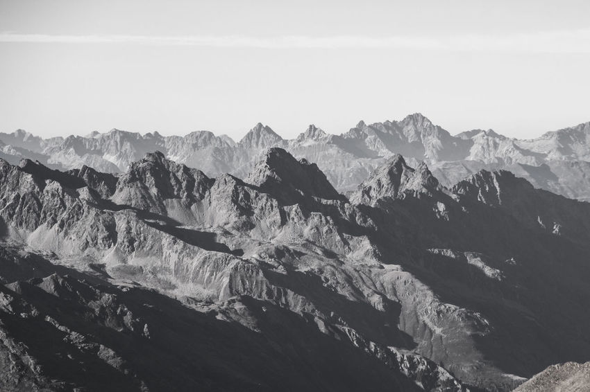 Hiking Landscape_Collection Mountain View Travel Adventure Beauty In Nature Blackandwhite Day Hikingadventures Landscape Monochrome Mountain Mountain Range Mountains Nature No People Outdoors Physical Geography Scenery Scenics Sky Tranquil Scene Tranquility Travel Destinations Wilderness Area