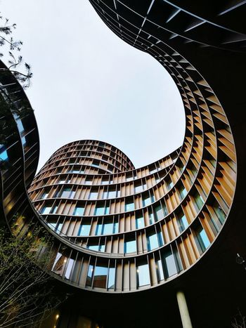 Axel towers across Tivoli in copenhagen EyeEmReady Circle Architecture Building Exterior Day Axel Towers Blue Sky Messing Construction Building Office Office Building Denmark Copenhagen, Denmark HuaweiP9 EyeEm Best Shots Eye4photography  Engineering Spiral Staircase