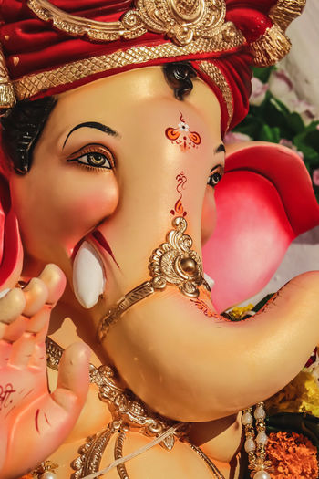 love peace ganesh god faith everything bless Faith Blessed  Ganesha Ganapati Peace Knowledge Power In Nature Wealth Smart Portrait Beauty Human Lips Beautiful Woman Venetian Mask Gold Colored Beautiful People Gold Arts Culture And Entertainment Glamour
