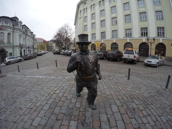 Taking Photos Estonia Hello World Tallinn Traveling Winter Cold Statue Fun Country