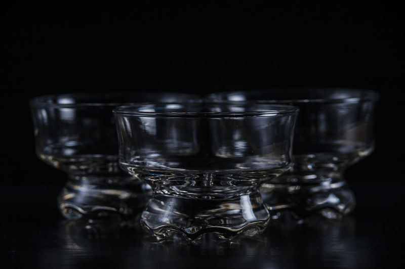 Black Backdrop Black Background Crystal Clear Glass - Material Glassware Household Objects Kitchenware Objects Product Photography Reflections Serving Size Still Life Studio Shot