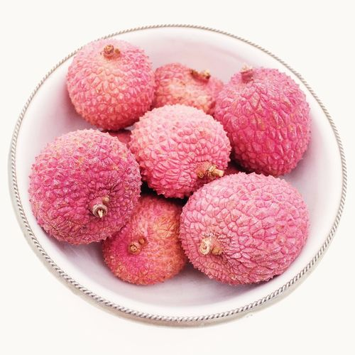 Lychees Lychees Fruit Fruits Healthy Eating Healthy Diet Pink Textured  Texture Food Bowl