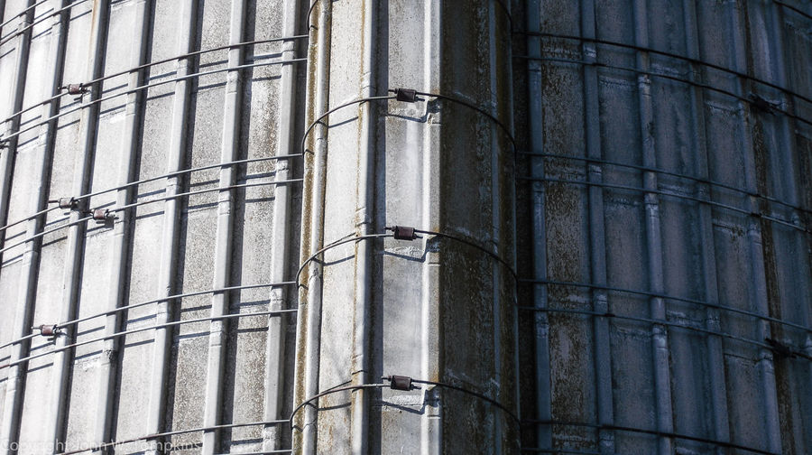 Silo detail Architecture Backgrounds Building Building Exterior Built Structure Day Full Frame Low Angle View No People Outdoors Repetition Silo Structural Detail