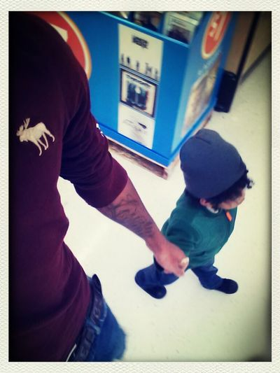 Me And Lil Bro Takin A Stroll In Walmart #babysitting#walmart