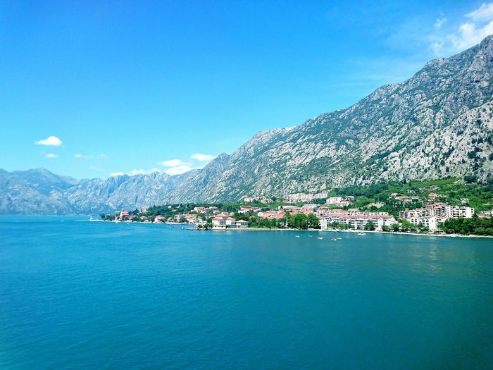 Finding New Frontiers Montenegro Kotor, Montenegro Nature On Your Doorstep Nature Photography Xperiaphotography XperiaZ5 Blue Sea Water Mountain Nautical Vessel Sky Outdoors Travel Destinations Harbor Nature Beauty In Nature No People. Neighborhood Map