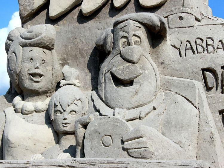 Sand sculpture Sneek Sandsculptures Flintstones Taking Photos Check This Out Hanging Out Enjoying Life Hello World