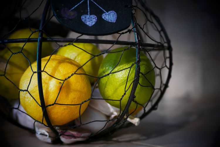 The Cage 2 Fruits Colors Yellow Green Kitchen Interior Nature Simplicity