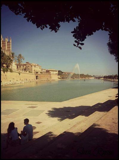 Palma De Mallorca Spain♥ Cruise Trip Keep Calm And Snap On Trees Amour ❤ Love ♥ Fountain Love Fountain