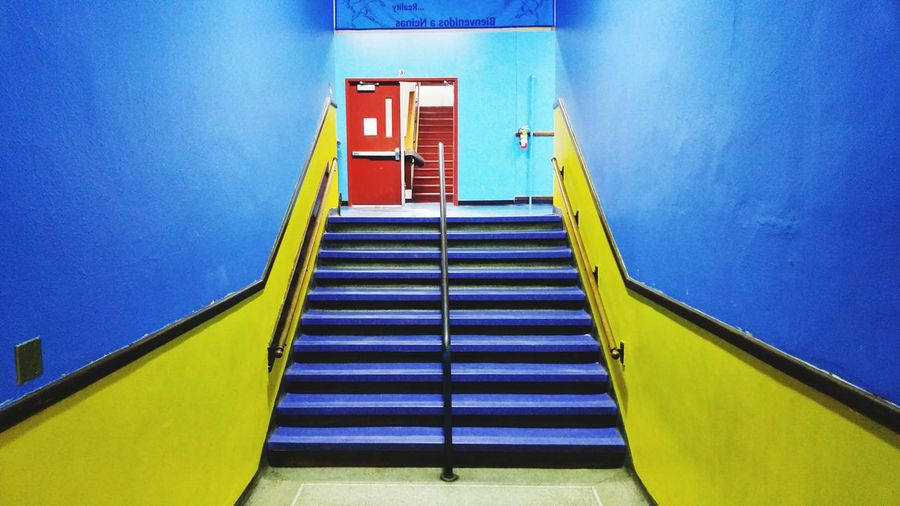 EyeEm Selects Staircase Steps Steps And Staircases Built Structure Architecture Indoors  No People Day Politics And Government Paint The Town Yellow