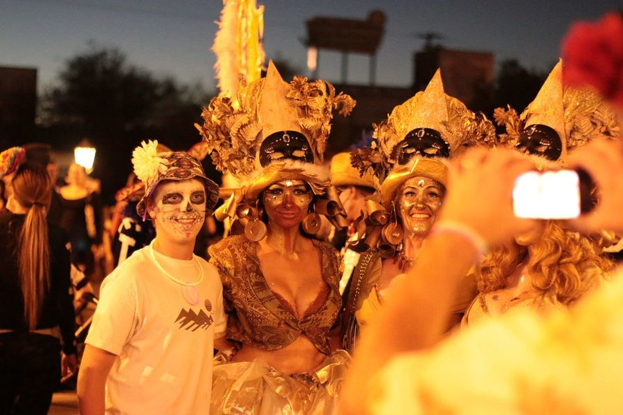 """16th photo from All Souls Procession """"Say Cheese"""" this shot has a mardi gras feel City Of Tucson United States 50mm Tucson Arizona"""