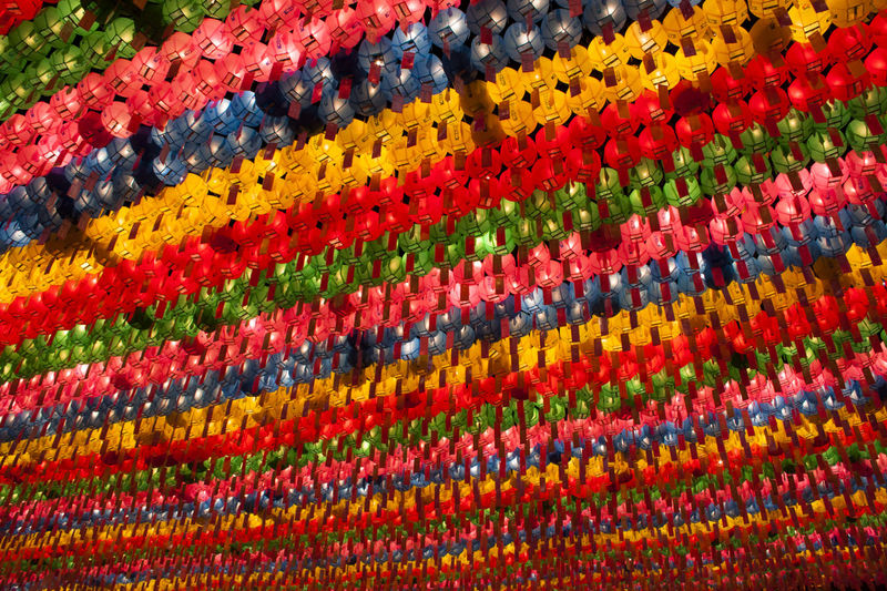 Multi Colored Full Frame Abundance Large Group Of Objects In A Row Pattern No People Textile Art And Craft Red Craft Vibrant Color Decoration Hanging
