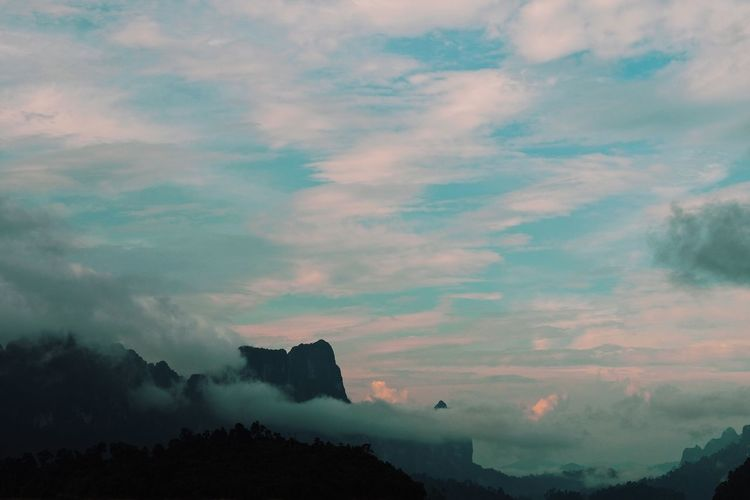 Beauty In Nature Cloud - Sky Day Environment Idyllic Landscape Mountain Nature No People Non-urban Scene Outdoors Scenics - Nature Silhouette Sky Sunset Tranquil Scene Tranquility Travel Destinations Tree