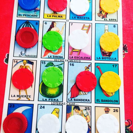 Multi Colored Red No People Close-up Day Loteria