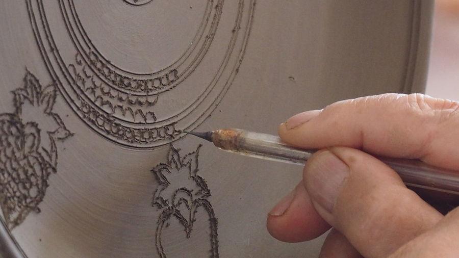 Ceramics Factory Rhodes Greece Bonis Ceramics Ceramic Art Craft Ceramic Plate Skills  Hand Made Design One Person Human Hand One Man Only Close-up