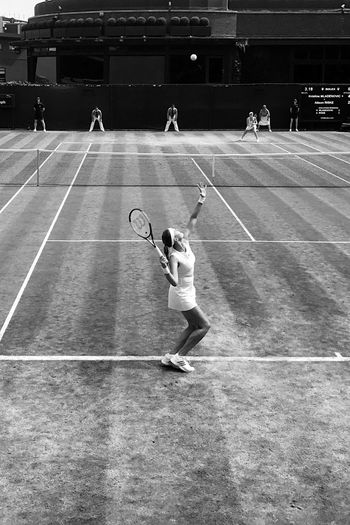 EyeEm Selects Sport Court Sports Clothing Tennis 🎾 Wimbledon2017 Wimbledon Championships Wimbledon Bnw Bnw_collection Bnwphotography