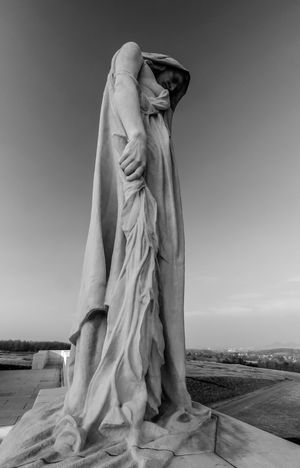 Black And White Photography People Creative Light And Shadow Streetphotography Authentic Moments Portrait Monocrome Canadian Memo Contemplation Mourning Poignant Sadness Statue Of Liberty Statue Of Mother Canada Vimy Ridge Memorial Women Ww1