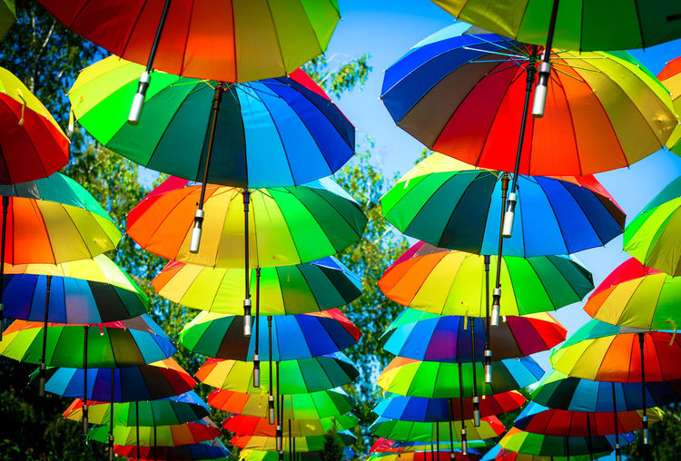 Backgrounds Colorful Colors Day Large Group Of Objects Multi Colored No People Outdoors Umbrellas