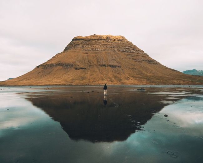 Kirkjufell Iceland Dramatic Angles Reflection People Lake Landscape Nature Mountain Snaefellsnes Peninsula Sky Fall Autumn Dramatic Icelandic Nature Landscapes My Year My View