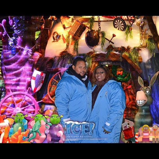 Aww !!! LOL ShrekTheHalls presented by Ice ! at the NationalHarbor