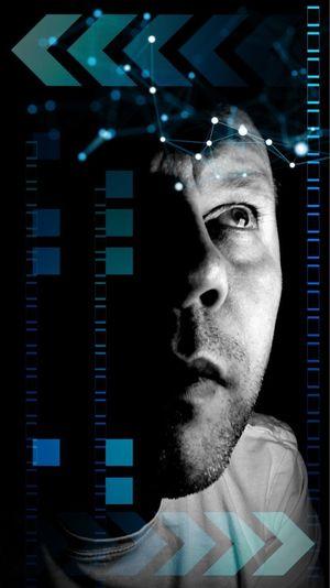 Science Background Future Vision Future Science Fiction, Future, Science Science And Technology One Person Portrait Headshot Men Adult Technology