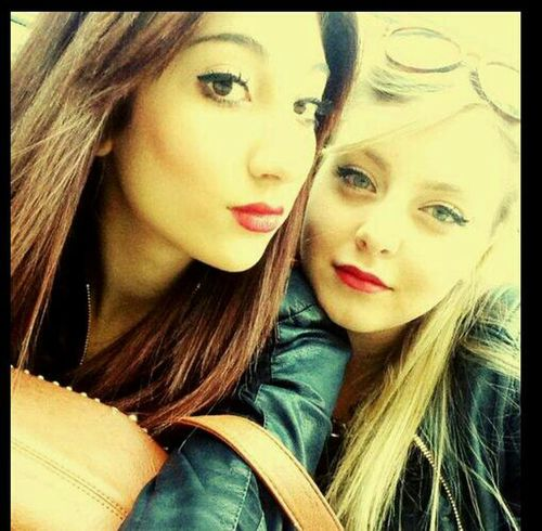 Taking Photos Red Lips ❤ Every Brunette Needs A Blonde Bestfriend  Lipgloss Obsession