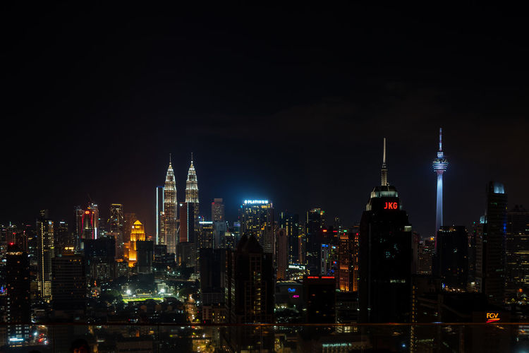 Kuala Lumpur Night Building Exterior Architecture Built Structure Illuminated Building City Skyscraper Office Building Exterior Tall - High Cityscape Tower Sky Modern No People Urban Skyline Travel Destinations Office Financial District  Outdoors Spire  Petronas Twin Towers