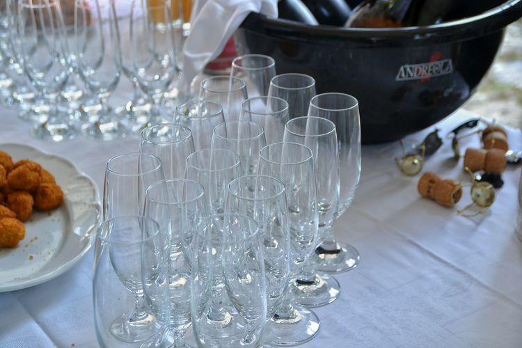 No People Indoors  Close-up Day Beautifully Organized Glasses Wedding Buffet Bevarage Table Champagne Party Wine Not