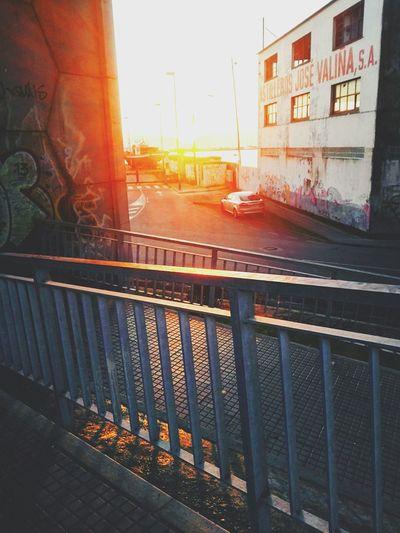 Taking Photos Enjoying Life Sun_collection Sunrise Amanecer Going To Class Barandilla Astillero