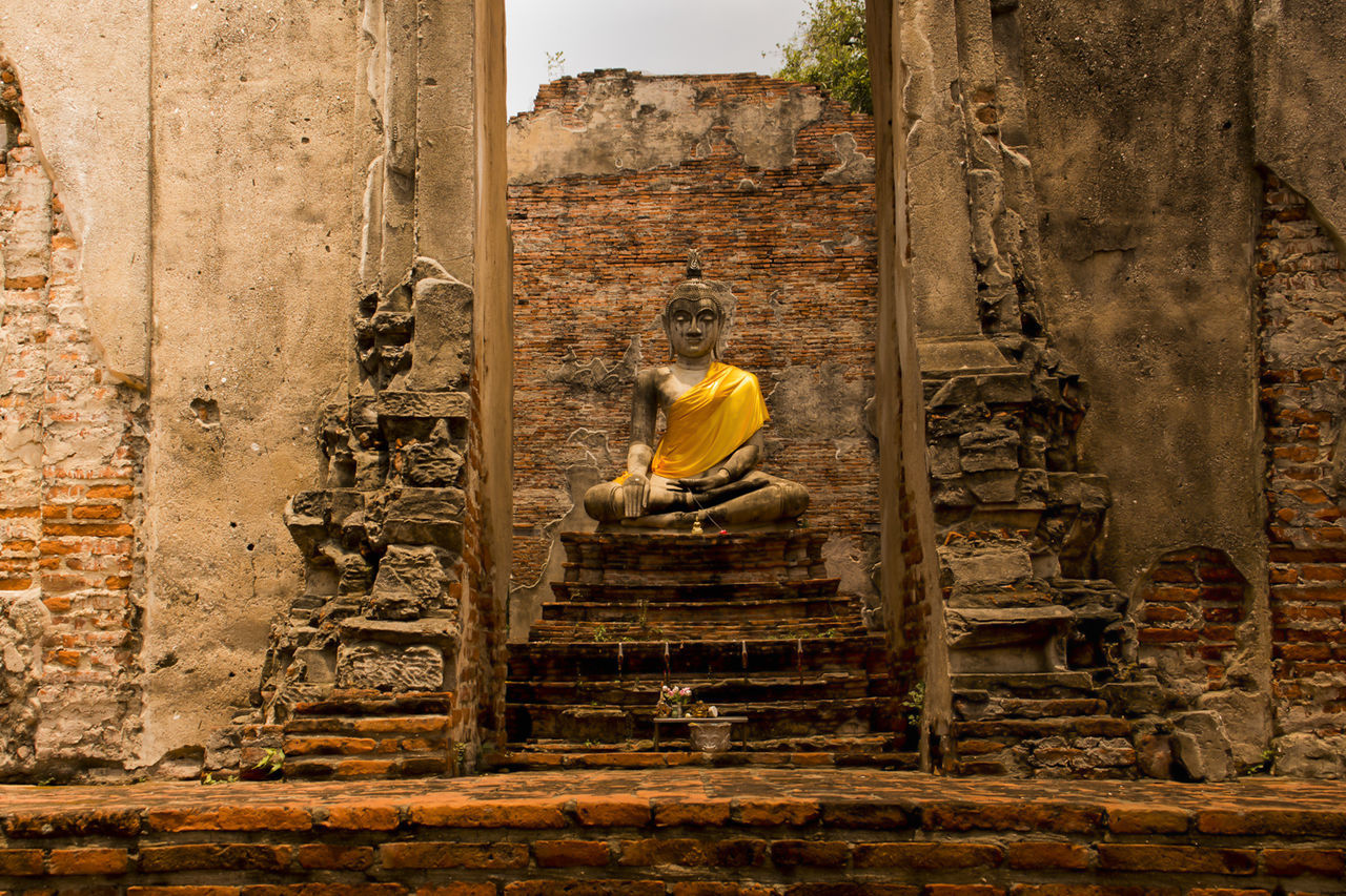 architecture, old ruin, statue, history, built structure, spirituality, religion, sculpture, building exterior, day, ancient, ancient civilization, outdoors, no people