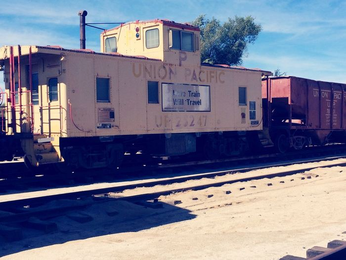 Union Pacific Railroad Transportation Railroad Track Caboose Mode Of Transport Rail Transportation Outdoors No People The Past EyeEm Gallery Campo Ca Train Museum IPhoneography Outdoors Photograpghy  History Transportation Metal Train Railroad Track Weekend Activities Old