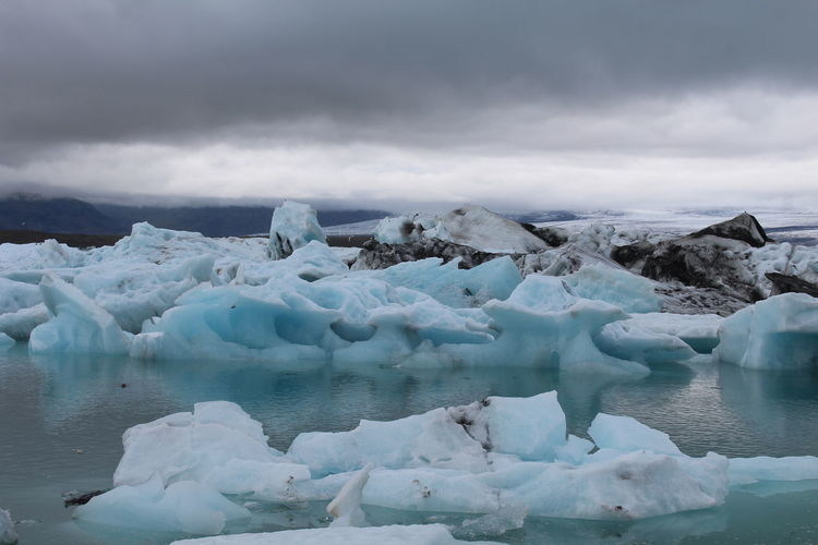 Cold Temperature Water Sky Ice Glacier Winter Tranquil Scene Frozen Cloud - Sky Beauty In Nature Tranquility Scenics - Nature Environment Iceberg No People Floating On Water Melting Iceland Iceland Trip Travel Traveling Ice Iceland Roadtrip Roadtrip Eye Em New Here